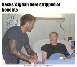 Beckham and soldier