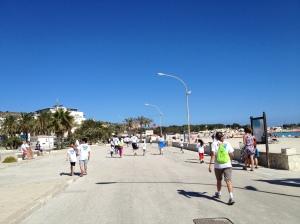No Limits Marathon along the beach
