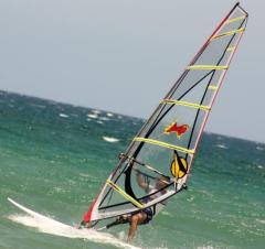 Windsurfing amputee Giuseppe Viola