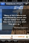 Thomas Edison quote: Many of life's failures are experienced by people who did not realize how close they were to success when they gave up